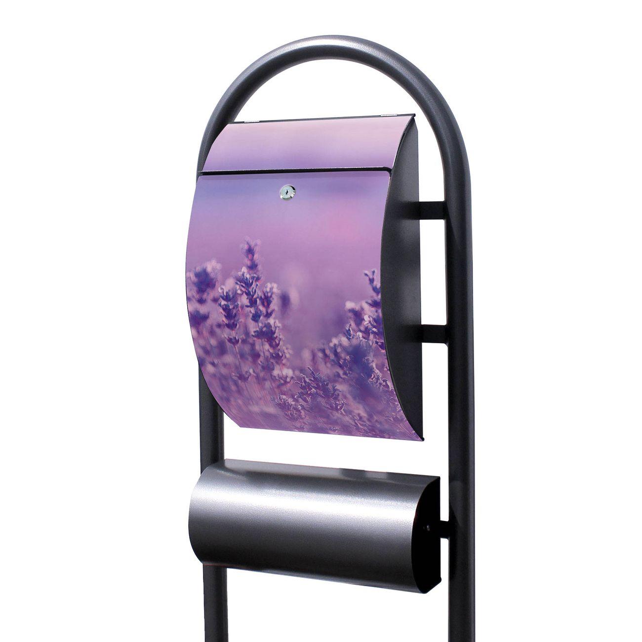 Standbriefkasten Hammerschlag Lavendelmeer