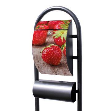 Standbriefkasten Hammerschlag Erdbeeren
