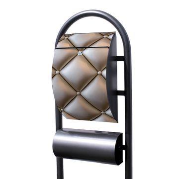 Standbriefkasten Hammerschlag Polster Bronze