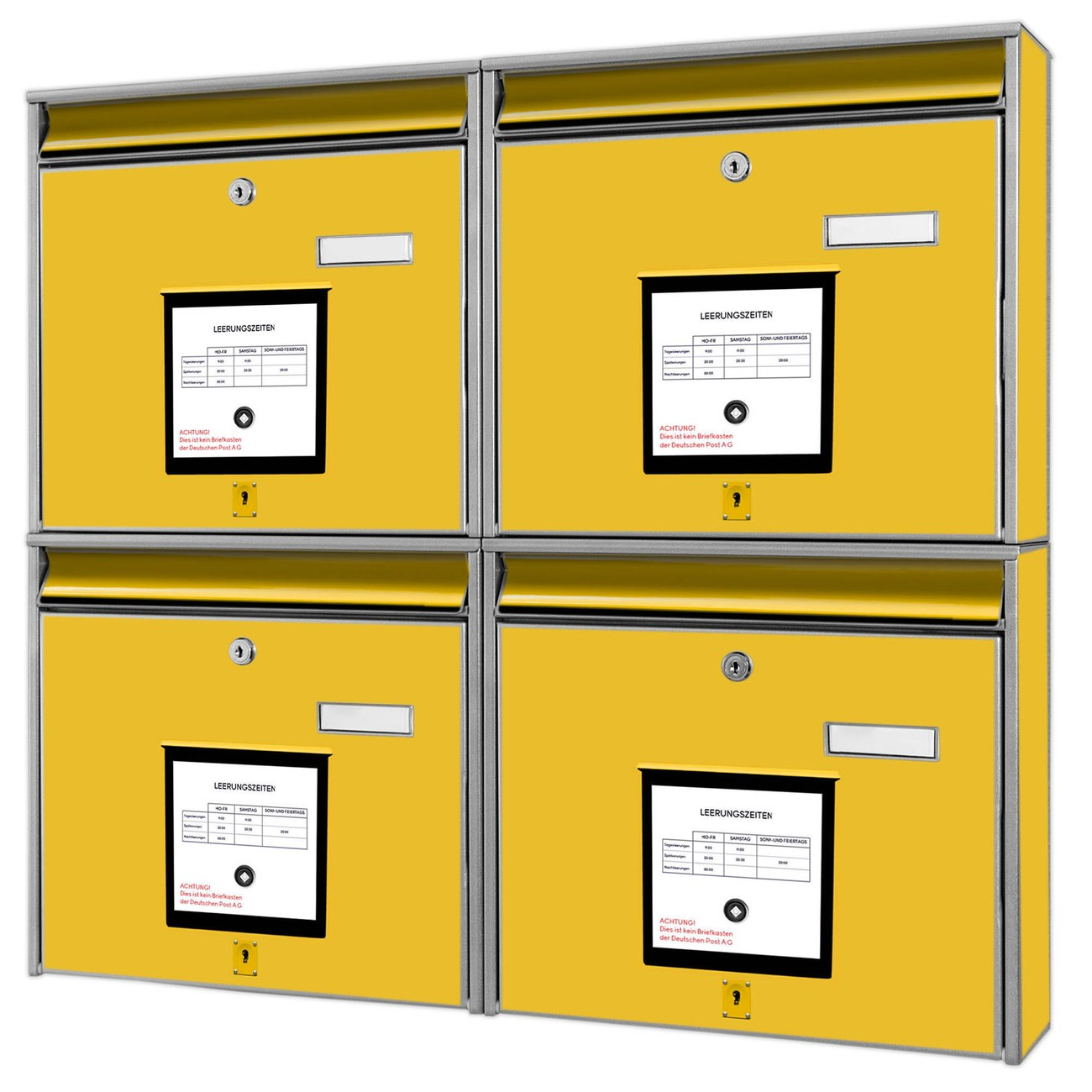 Briefkastenanlage Briefkasten Gelb