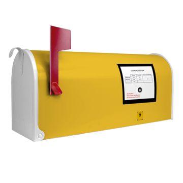 Amerikanischer Briefkasten Briefkasten Gelb
