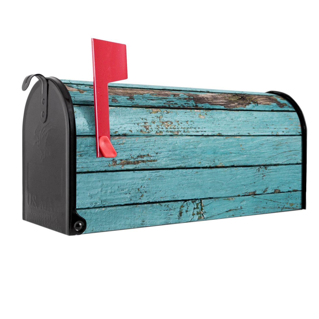 Amerikanischer Briefkasten Blaue Holzlatten