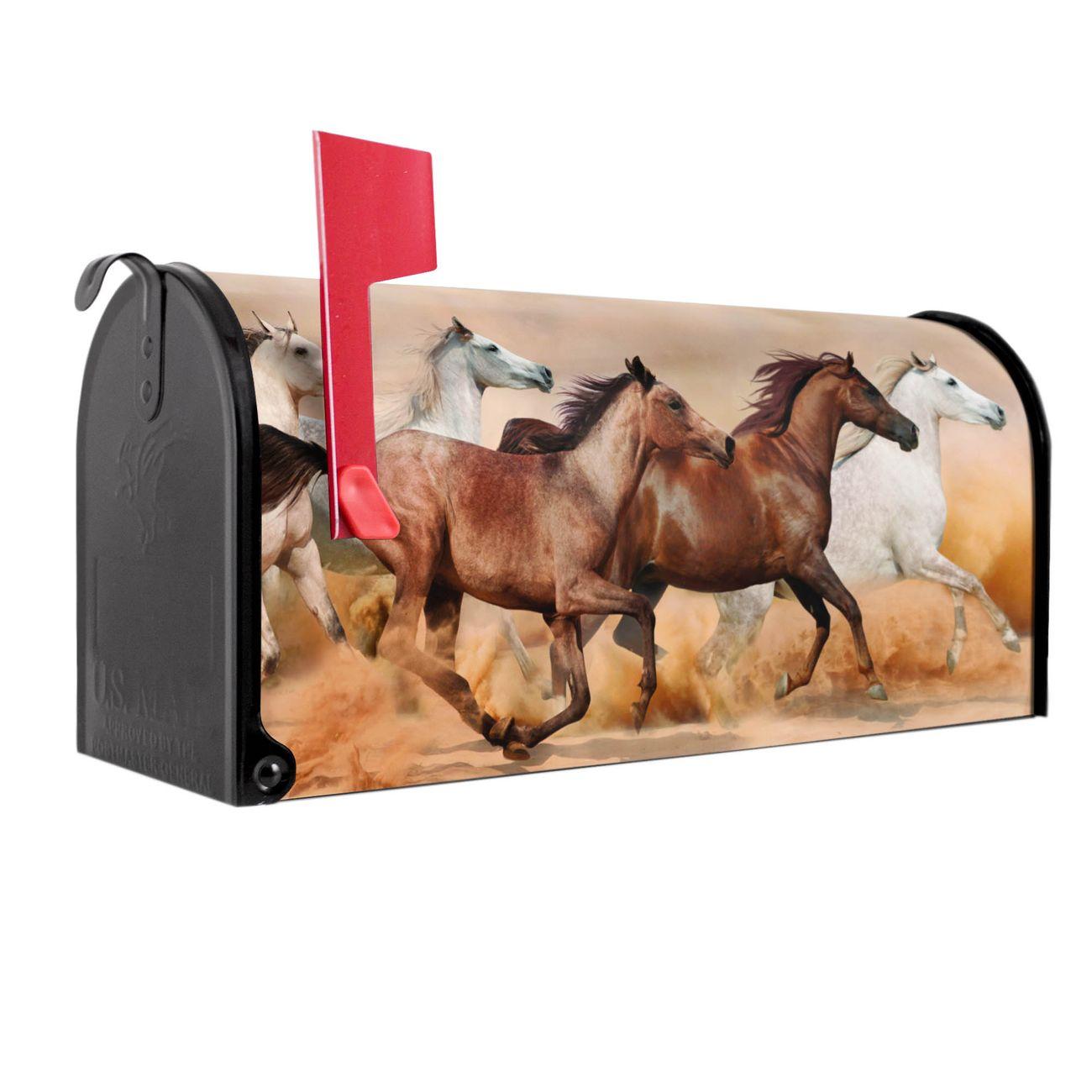 Amerikanischer Briefkasten Wilde Pferde