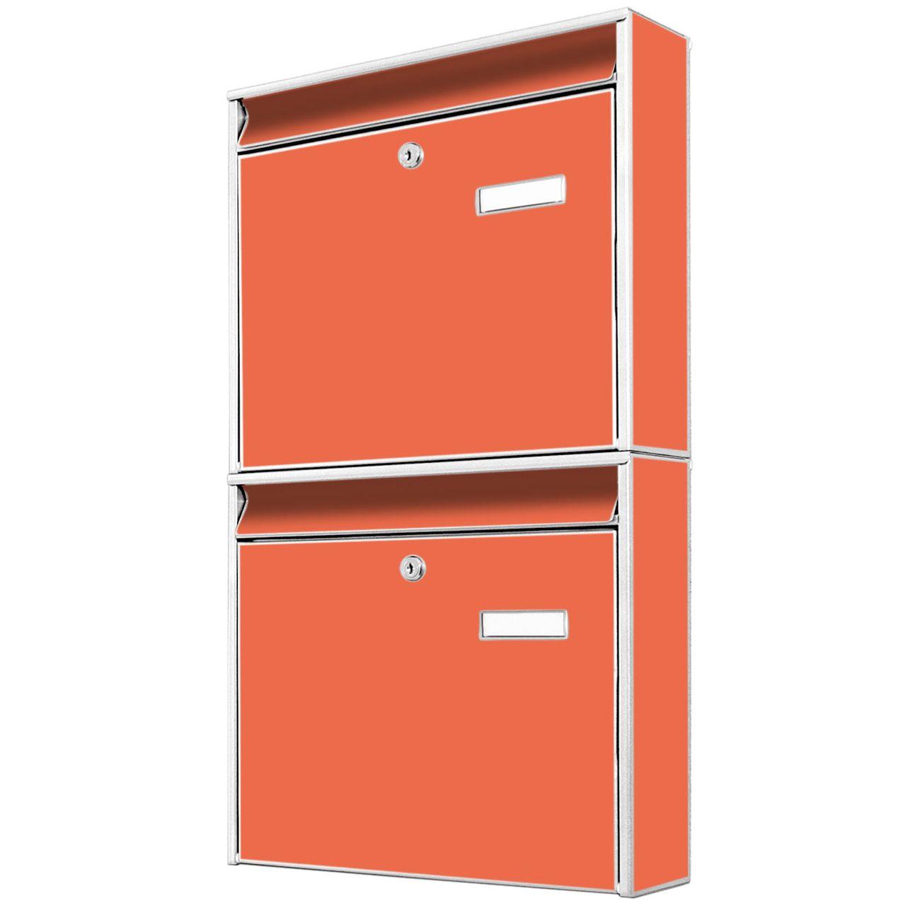 Doppelbriefkasten hoch Orange