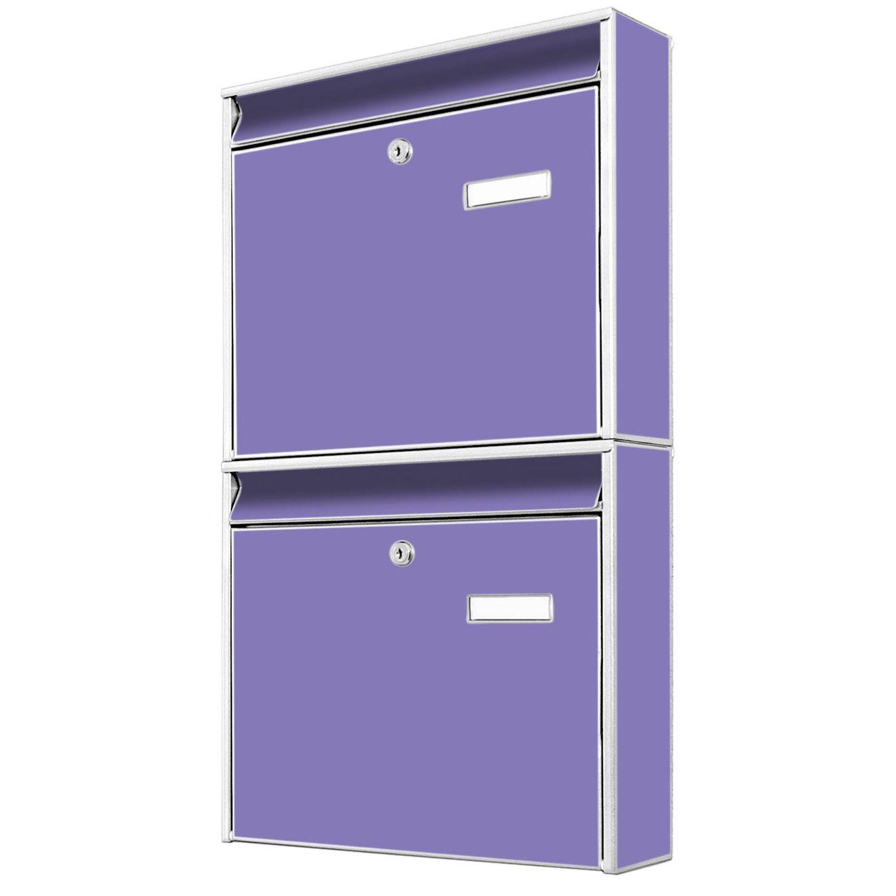 Doppelbriefkasten hoch Lavendel