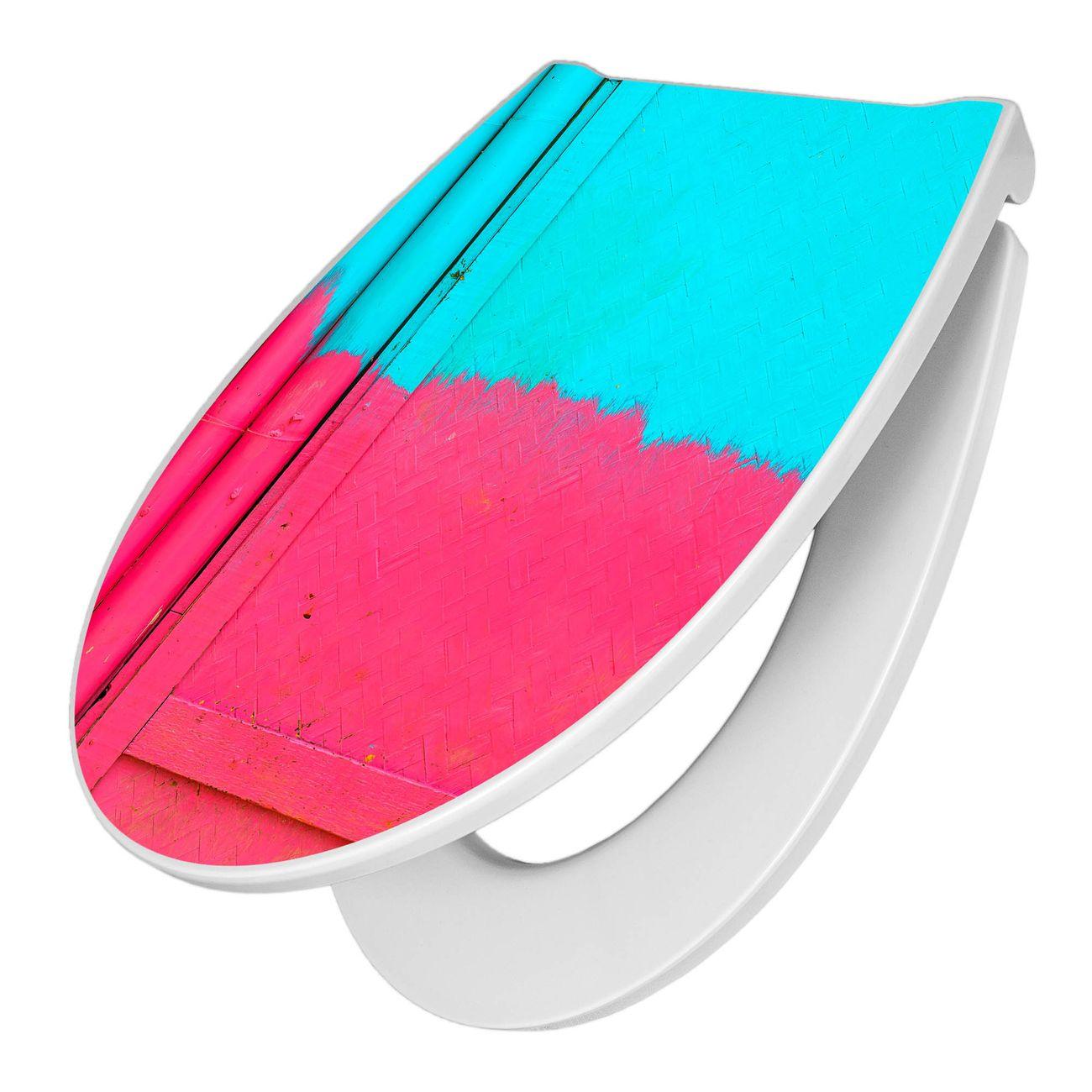 Premium WC-Sitz Softclose Absenkautomatik Motiv Zwei Farben