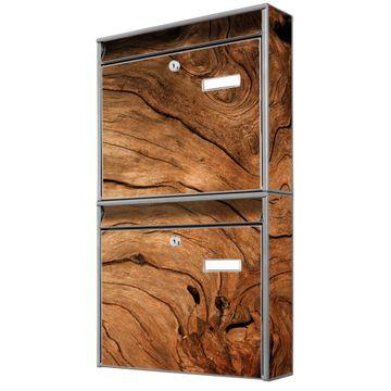 Doppelbriefkasten hoch Trockenes Holz