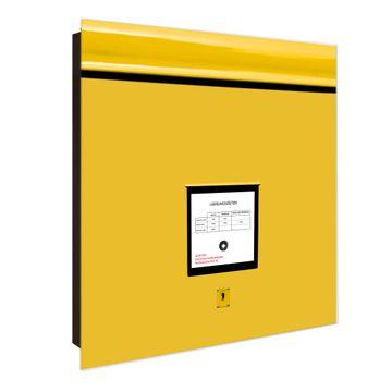 Schlüsselkasten Glas Motiv Briefkasten Gelb