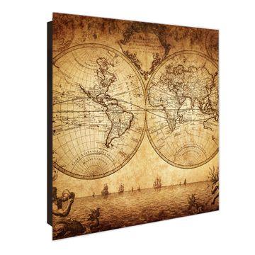 Schlüsselkasten Glas Motiv Sieben Weltmeere