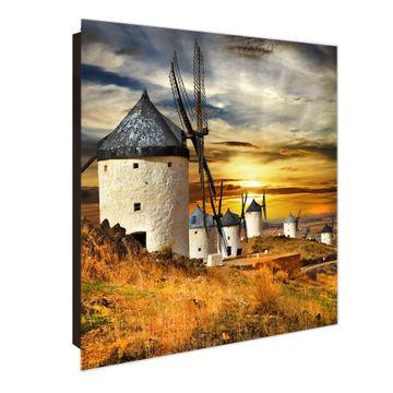Schlüsselkasten Glas Motiv Spanische Windmühlen