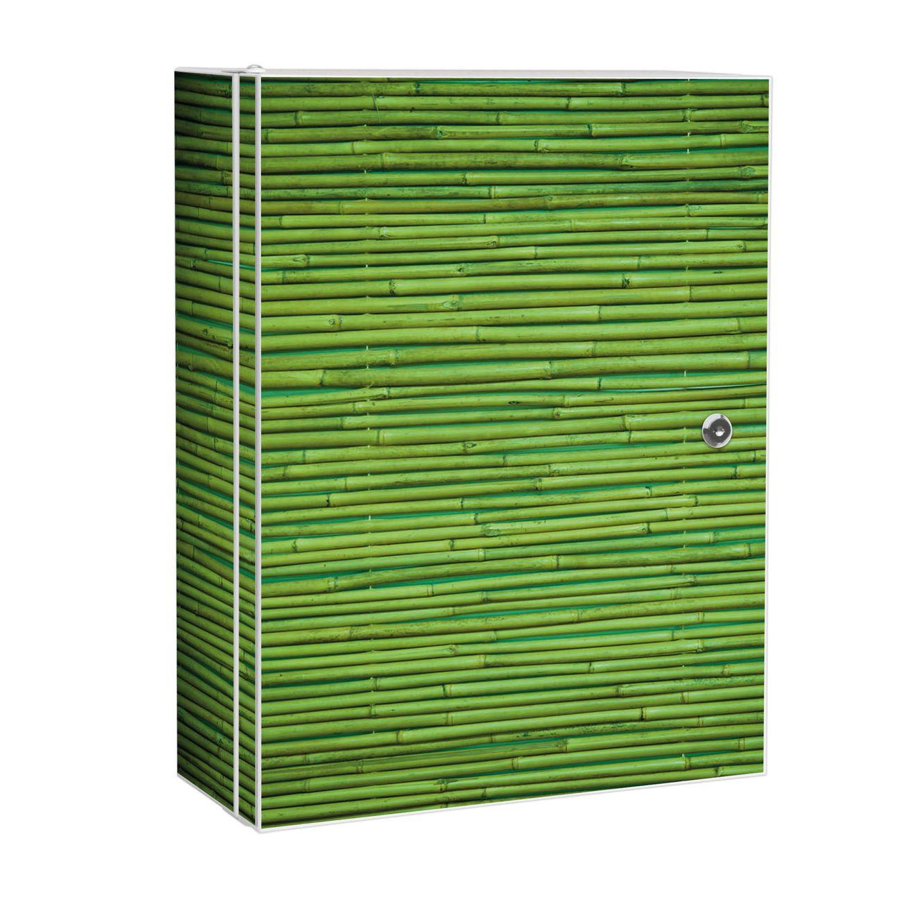 Medizinschrank Stahl Motiv Bambus Grün
