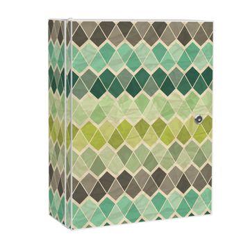 Medizinschrank Stahl Motiv Vier Farben Grün