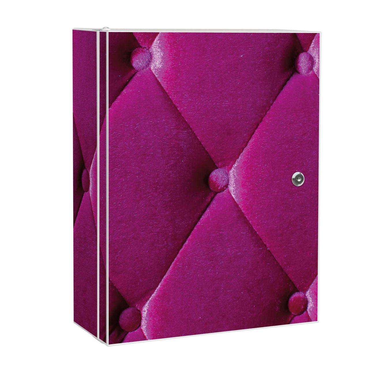 Medizinschrank Stahl Motiv Pink Polster