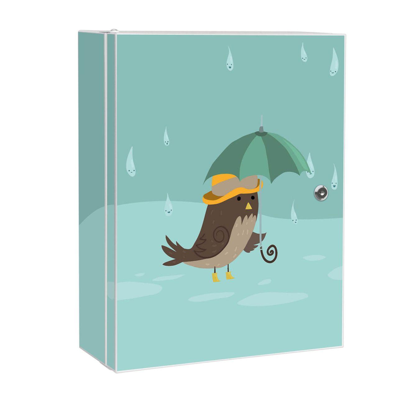 Medizinschrank Stahl Motiv Rainbird