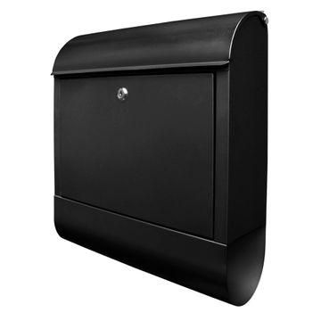 Großer Stahl Briefkasten Schwarz