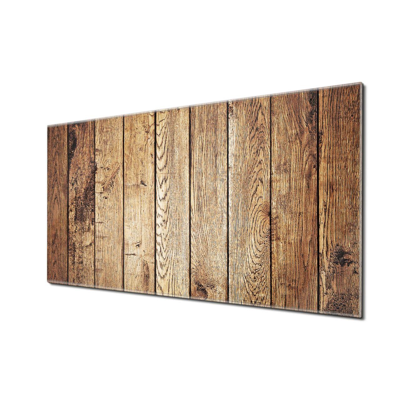 Küchenrückwand Glas Motiv Geöltes Holz
