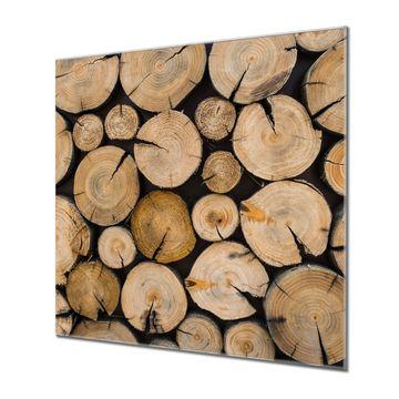 Küchenrückwand Glas Motiv Brennholz