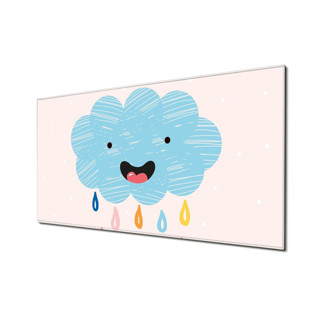 Küchenrückwand Glas Motiv glückliche Regenwolke