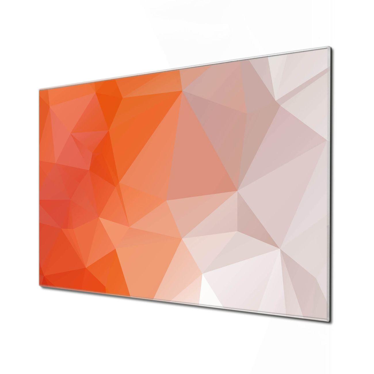 Küchenrückwand Glas Motiv Orange Polygon