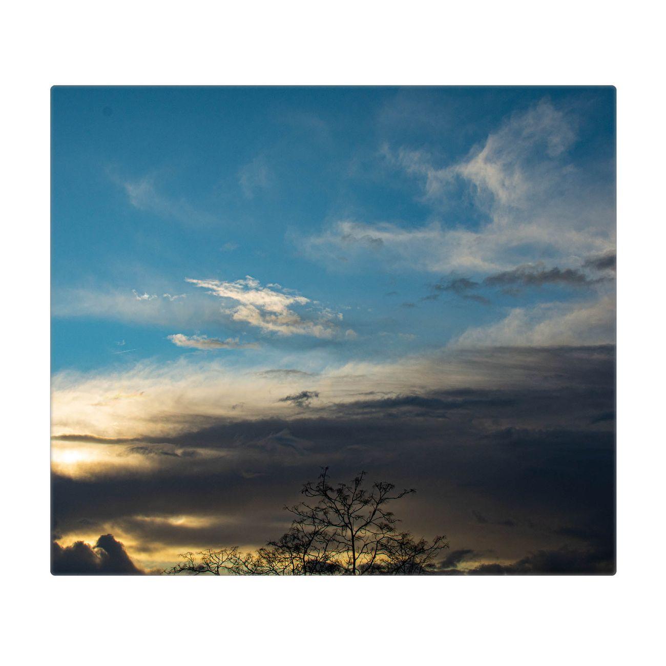 Herdabdeckplatte 1 und 2 teilig Motiv Wolken 7