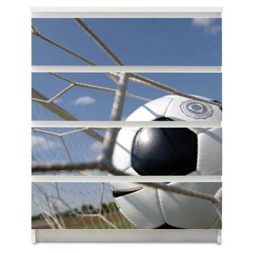 Möbelsticker für Ikea MALM Motiv Fußball