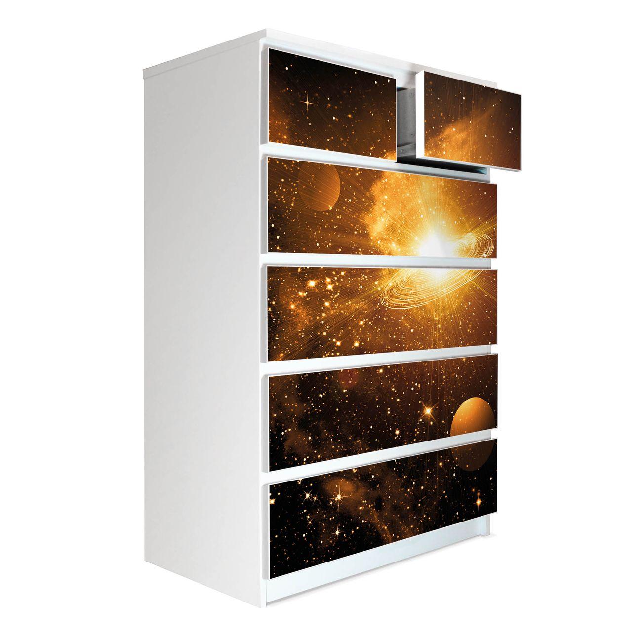 Möbelsticker für Ikea MALM Motiv Outer Space