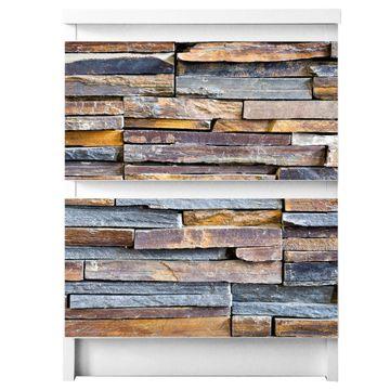 Möbelsticker für Ikea MALM Motiv Naturstein