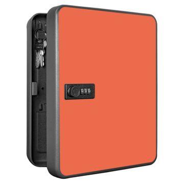 Schlüsselkasten abschließbar Motiv Einfarbig Orange