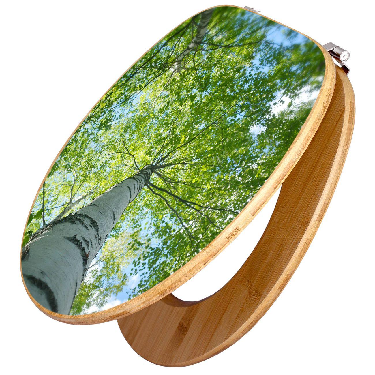 Design WC-Sitz Bambus Holz Motiv Zwischen Bäumen 5