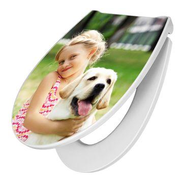 Premium WC-Sitz Softclose Absenkautomatik Motiv mit Ihrem eigenen Motiv