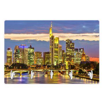 Glas Schlüsselbrett mit 5 Haken Frankfurt Main