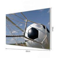 Glas Magnettafel im Querformat Motiv Fußball