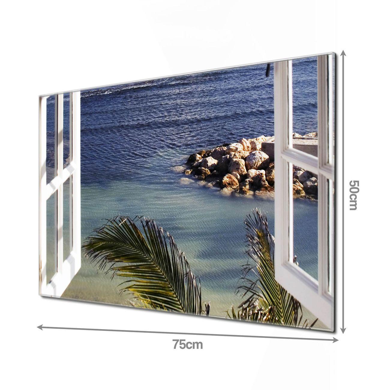 Glas Magnettafel im Querformat Fensterpanorama