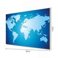 Glas Magnettafel im Querformat Motiv Weltkarte