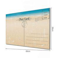 Glas Magnettafel im Querformat Motiv Postkarte