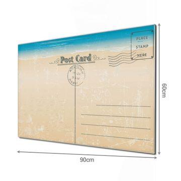 Glas Magnettafel im Querformat Postkarte