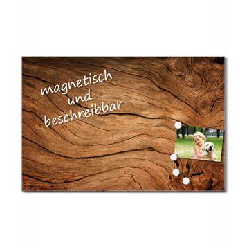 Glas Magnettafel im Querformat Trockenes Holz