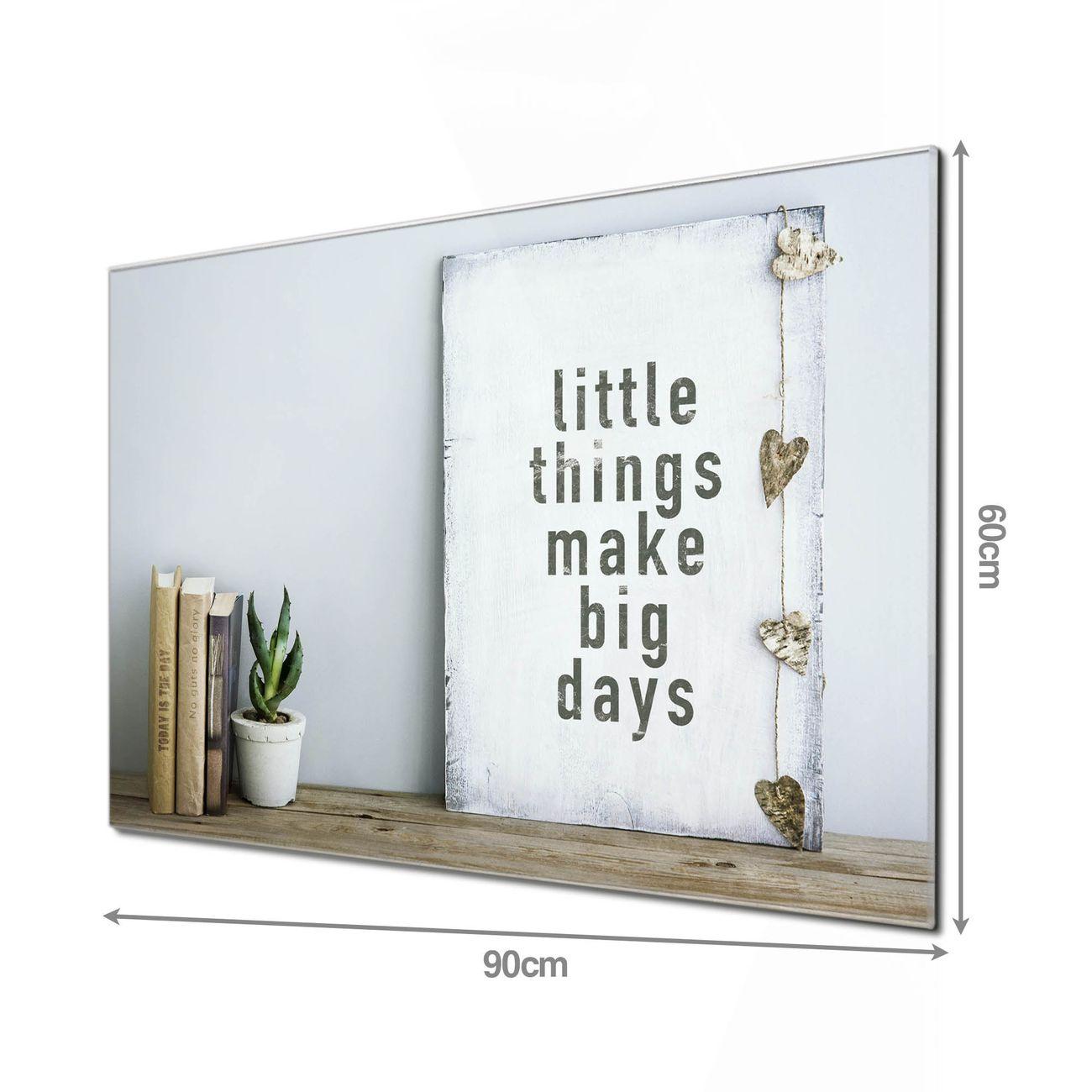 Glas Magnettafel im Querformat Little Things