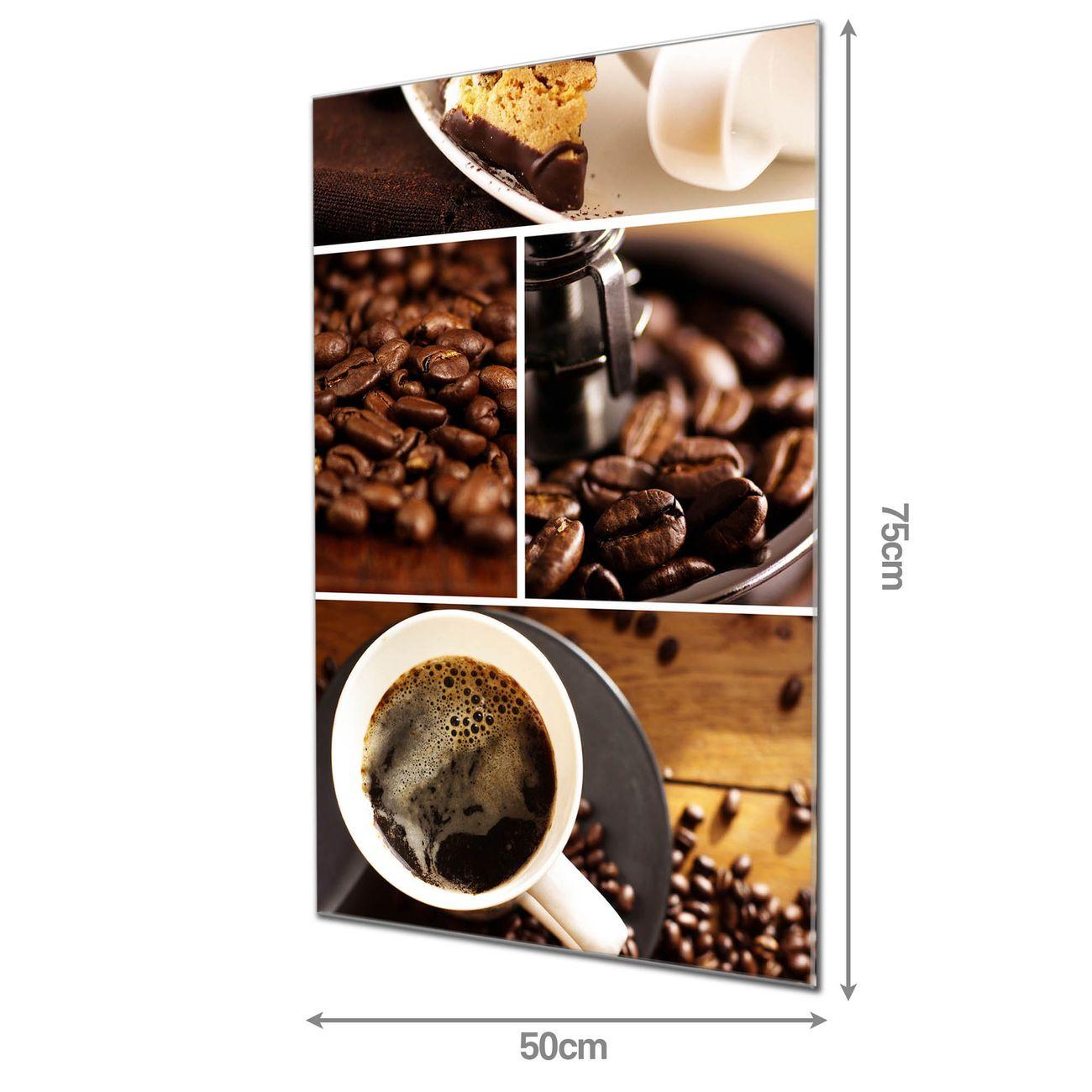 Glas Magnettafel im Hochformat Kaffee&Schokolade