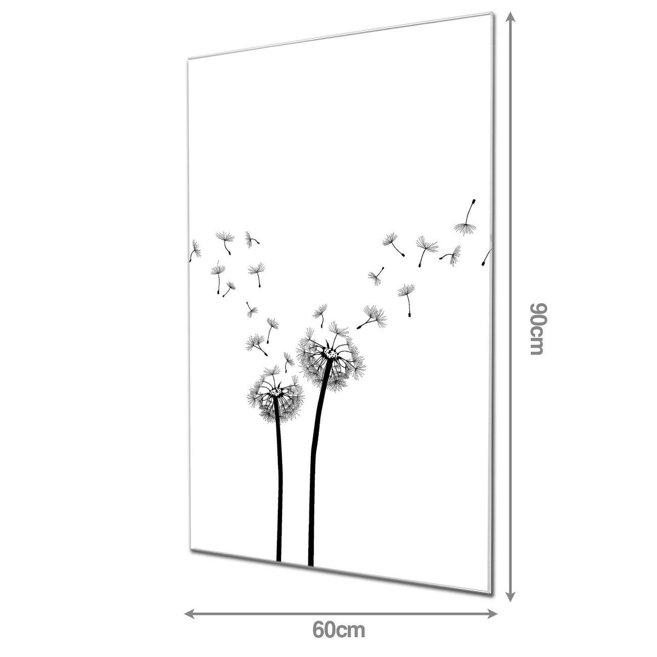 Glas Magnettafel im Hochformat Pusteblume 2