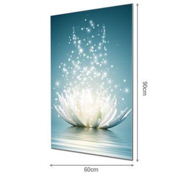 Glas Magnettafel im Hochformat Magische Lotusblüte