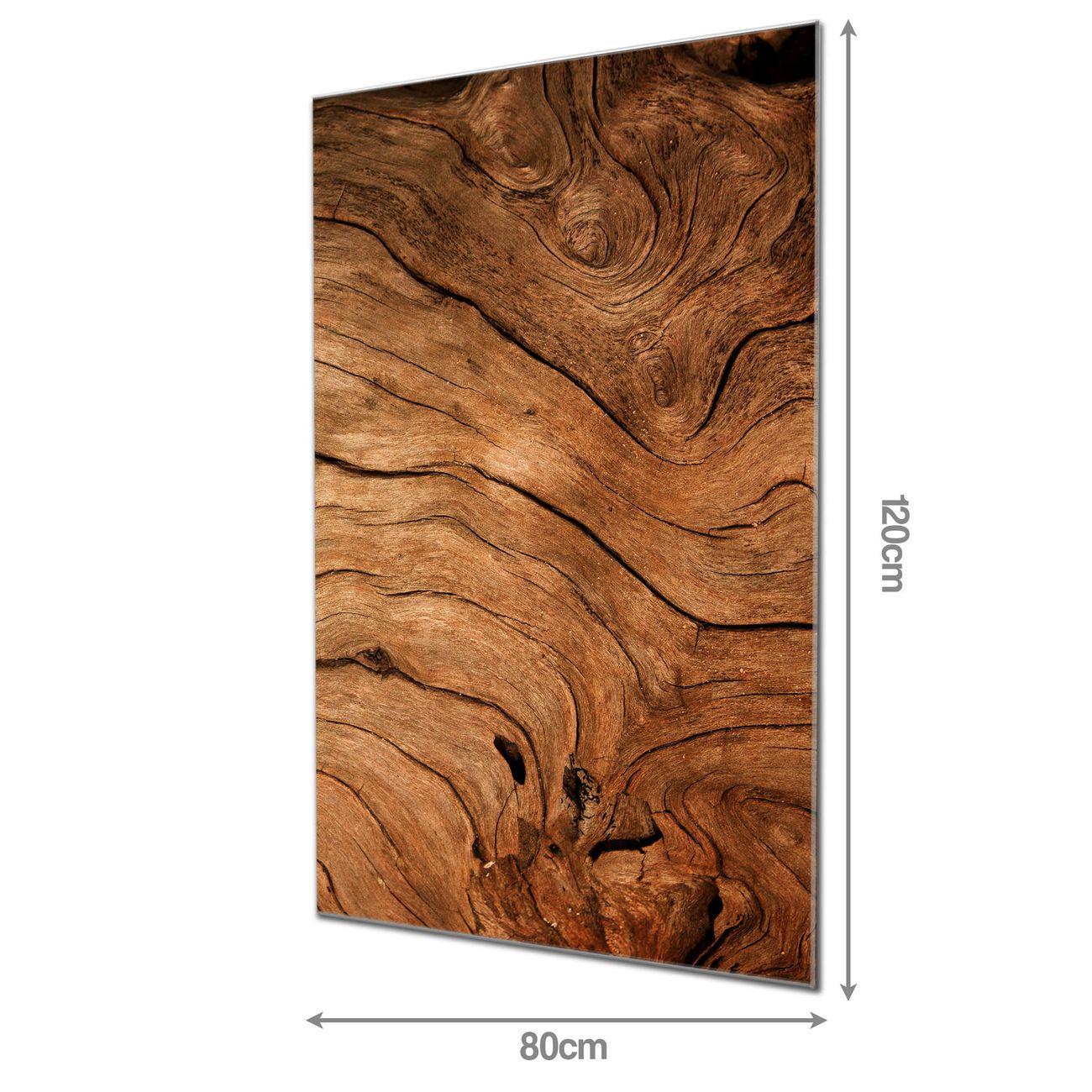 Glas Magnettafel im Hochformat Trockenes Holz