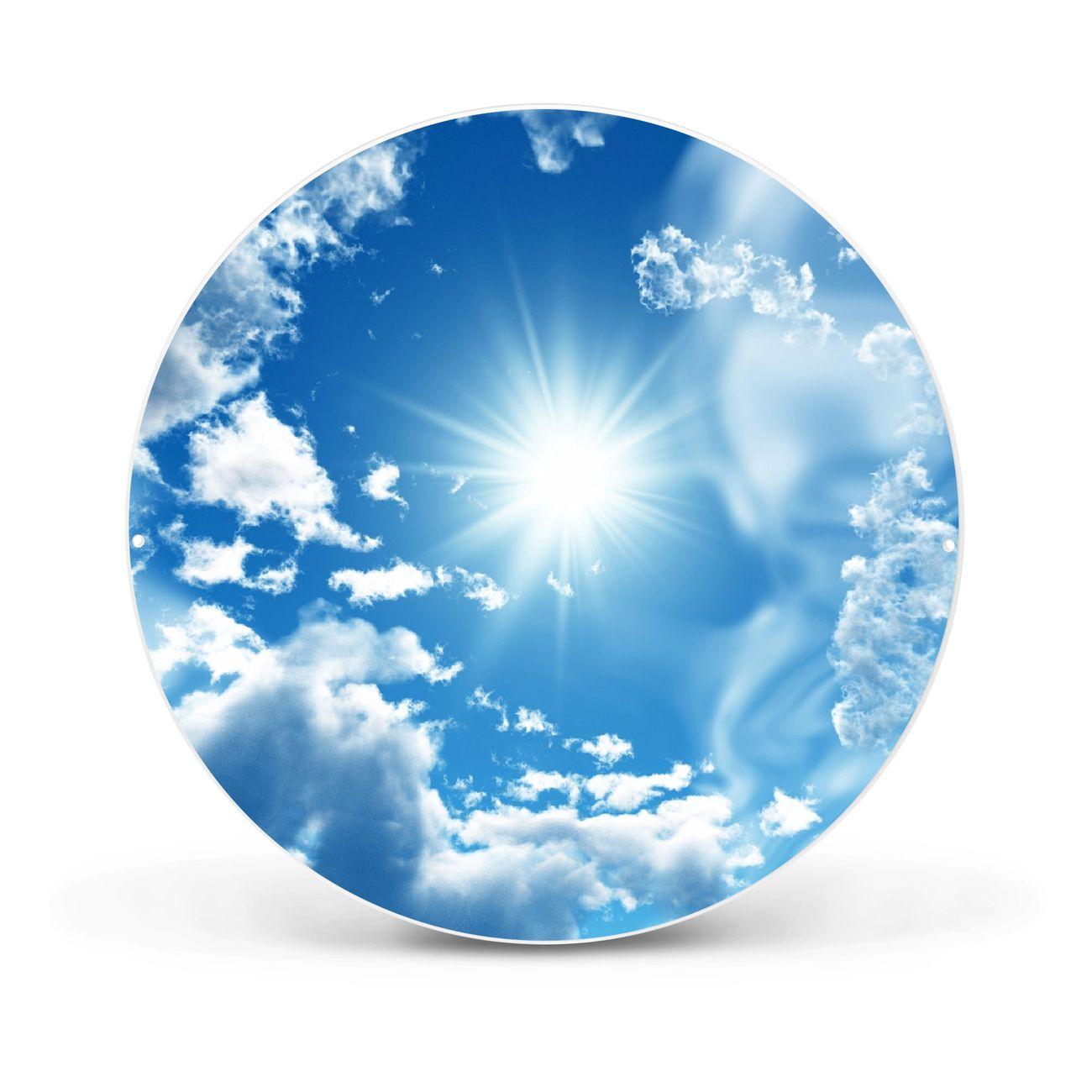 Magnettafel rund weiß Clouds – Bild 1
