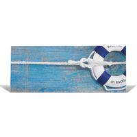 Metall Magnetwand 30x75cm Motiv Blauer Rettungsring