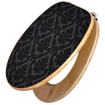 Design WC-Sitz Bambus Holz Motiv Black Deluxe