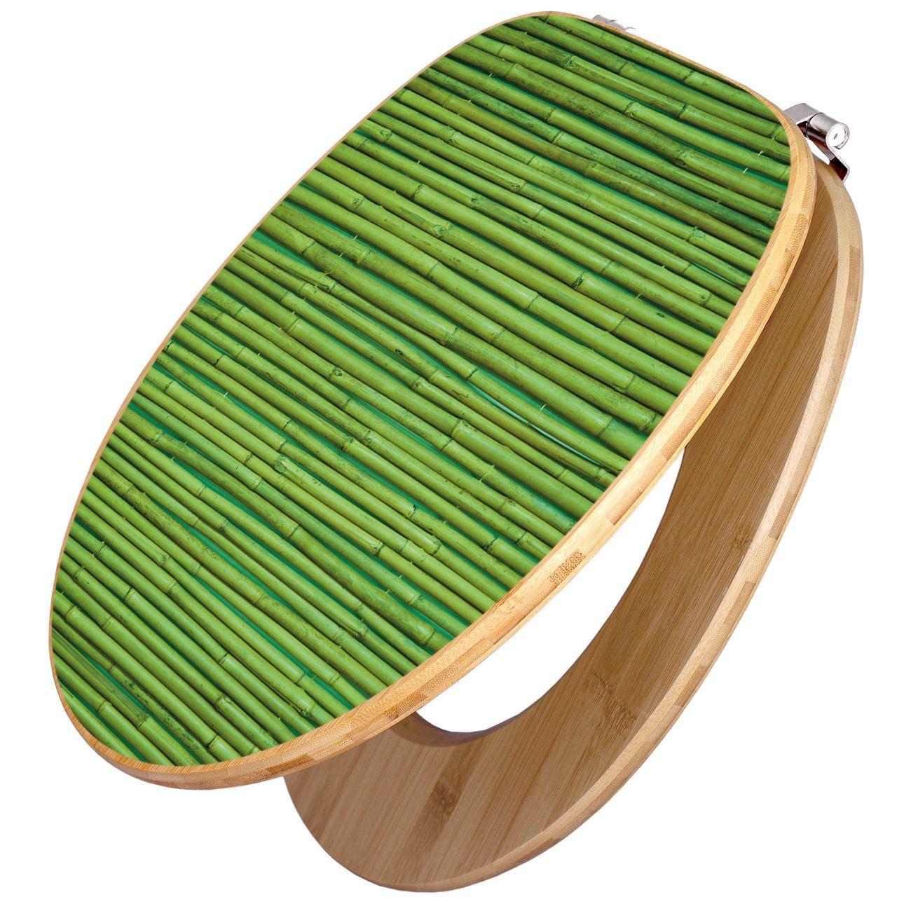Design WC-Sitz Bambus Holz Motiv Bambus Grün