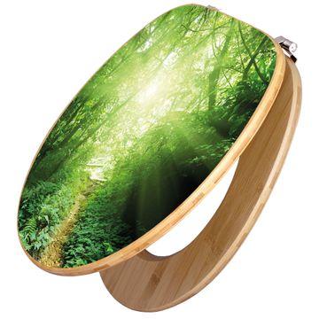 Design WC-Sitz Bambus Holz Motiv Dschungel Malaysia