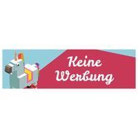 KEINE WERBUNG Aufkleber für Briefkasten Einhorn