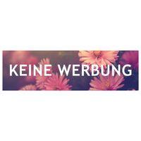 KEINE WERBUNG Aufkleber für Briefkasten Blumen