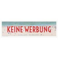 KEINE WERBUNG Aufkleber für Briefkasten Strand